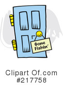Royalty-Free (RF) Door Clipart Illustration #217758