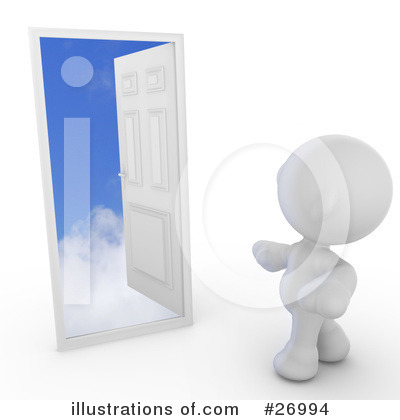 Royalty-Free (RF) Door Clipart Illustration by Leo Blanchette - Stock Sample #26994