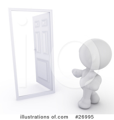 Doors Clipart #26995 by Leo Blanchette