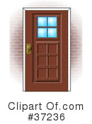 Royalty-Free (RF) Door Clipart Illustration #37236