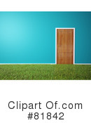 Royalty-Free (RF) Door Clipart Illustration #81842