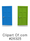 Royalty-Free (RF) Doors Clipart Illustration #26325
