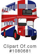 Royalty-Free (RF) Double Decker Clipart Illustration #1080681