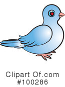 Royalty-Free (RF) Dove Clipart Illustration #100286