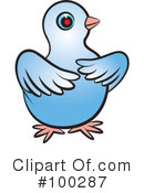 Royalty-Free (RF) Dove Clipart Illustration #100287