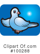 Royalty-Free (RF) Dove Clipart Illustration #100288