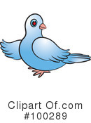 Royalty-Free (RF) Dove Clipart Illustration #100289