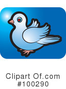 Royalty-Free (RF) Dove Clipart Illustration #100290