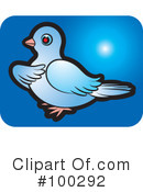 Royalty-Free (RF) Dove Clipart Illustration #100292