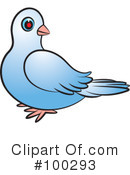 Royalty-Free (RF) Dove Clipart Illustration #100293