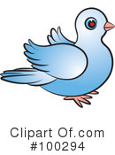 Royalty-Free (RF) Dove Clipart Illustration #100294
