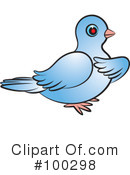 Royalty-Free (RF) Dove Clipart Illustration #100298