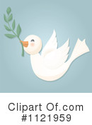 Royalty-Free (RF) Dove Clipart Illustration #1121959
