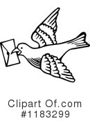Royalty-Free (RF) Dove Clipart Illustration #1183299