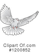 Royalty-Free (RF) Dove Clipart Illustration #1200852