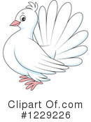 Royalty-Free (RF) Dove Clipart Illustration #1229226