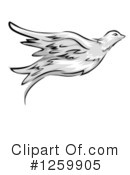 Royalty-Free (RF) Dove Clipart Illustration #1259905