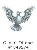 Royalty-Free (RF) Dove Clipart Illustration #1349274
