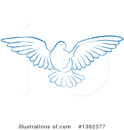 Dove Clipart #1362377 by AtStockIllustration