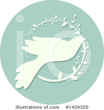 Royalty-Free (RF) Dove Clipart Illustration by BNP Design Studio - Stock Sample #1429320