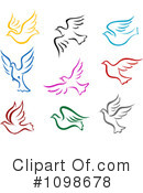 Royalty-Free (RF) Doves Clipart Illustration #1098678