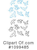 Royalty-Free (RF) Doves Clipart Illustration #1099485
