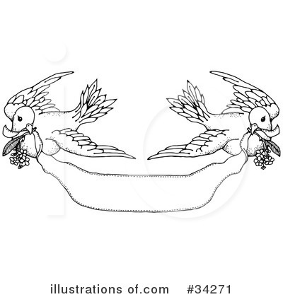 Wedding frame with doves and rings 20090107 Category Clipart Raster