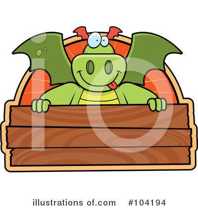 Royalty-Free (RF) Dragon Clipart Illustration by Cory Thoman - Stock Sample #104194
