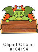 Royalty-Free (RF) Dragon Clipart Illustration #104194