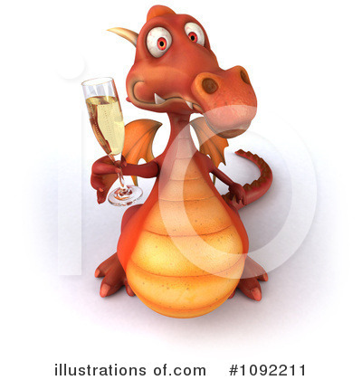 Royalty-Free (RF) Dragon Clipart Illustration by Julos - Stock Sample #1092211