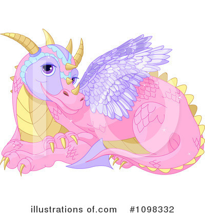 Royalty-Free (RF) Dragon Clipart Illustration by Pushkin - Stock Sample #1098332