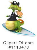 Royalty-Free (RF) Dragon Clipart Illustration #1113478