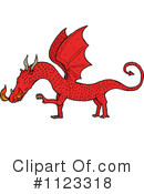 Royalty-Free (RF) Dragon Clipart Illustration #1123318