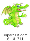 Royalty-Free (RF) Dragon Clipart Illustration #1181741