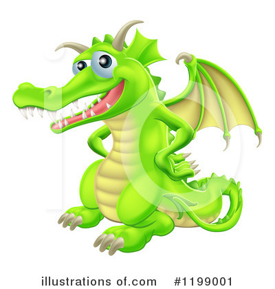 Dragon Clipart #1199001 by AtStockIllustration