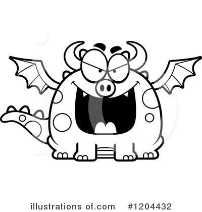 Royalty-Free (RF) Dragon Clipart Illustration by Cory Thoman - Stock Sample #1204432