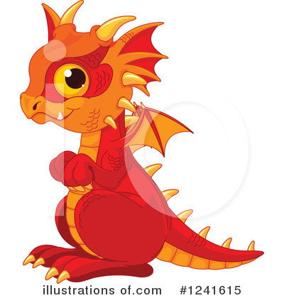 Royalty-Free (RF) Dragon Clipart Illustration by Pushkin - Stock Sample #1241615