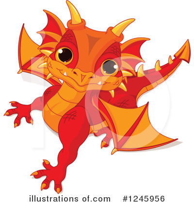 Dragon Clipart #1245956 by Pushkin