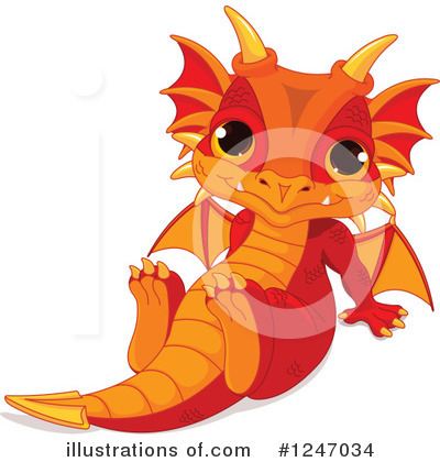 Royalty-Free (RF) Dragon Clipart Illustration by Pushkin - Stock Sample #1247034