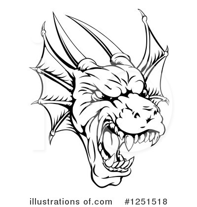 Royalty-Free (RF) Dragon Clipart Illustration by AtStockIllustration - Stock Sample #1251518