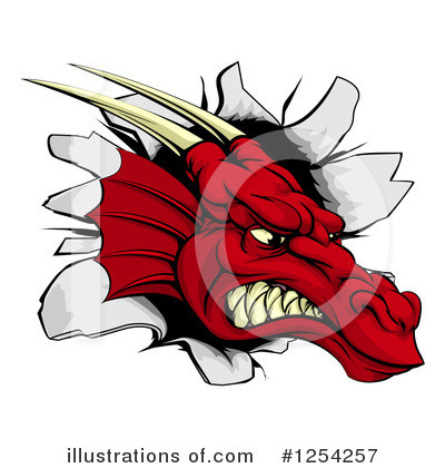 Dragon Clipart #1254257 by AtStockIllustration