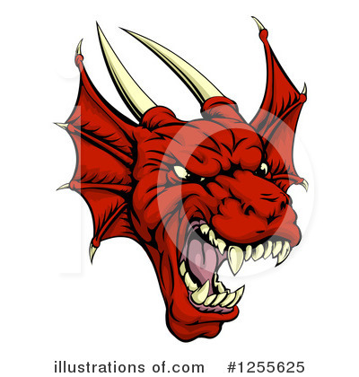 Dragon Clipart #1255625 by AtStockIllustration