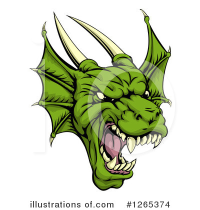 Dragon Clipart #1265374 by AtStockIllustration
