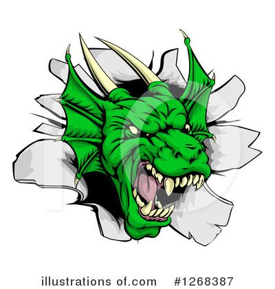 Dragon Clipart #1268387 by AtStockIllustration