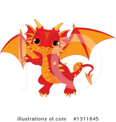 Dragon Clipart #1311845 by Pushkin