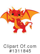 Royalty-Free (RF) Dragon Clipart Illustration #1311845