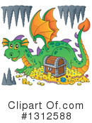 Dragon Clipart #1312588 by visekart