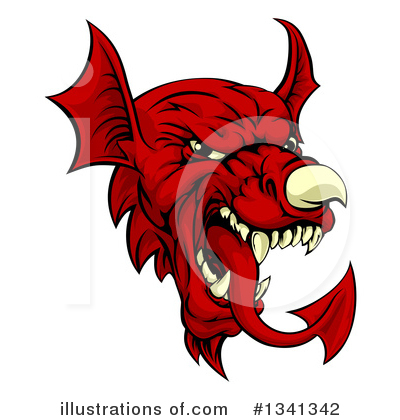 Dragon Clipart #1341342 by AtStockIllustration