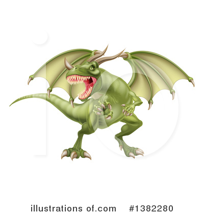 Dragon Clipart #1382280 by AtStockIllustration