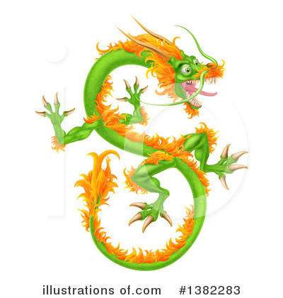 Dragon Clipart #1382283 by AtStockIllustration